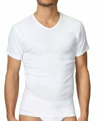 Calida Cotton 1:1 v-hals shirt met korte mouwen 14315 white