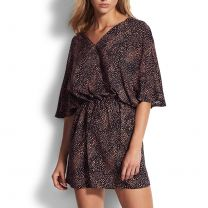 Seafolly Safari Spot kaftan 53771-KA black